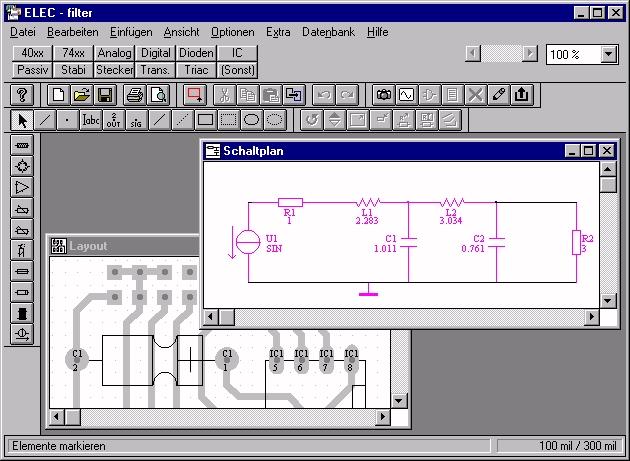 ELEC 2.45d Download Elektronik-Schaltpläne erstellen